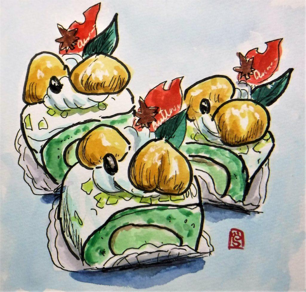 190203 抹茶ロール@清水菓子舗